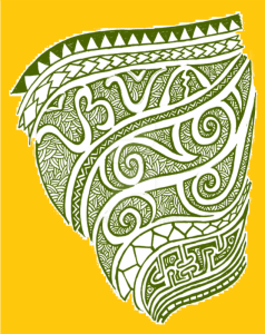 samoan tribal tattoo yellow background